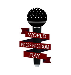 world press freedom day vector image