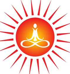 yoga energy vector image