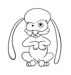 crazy cartoon hare vector image vector image