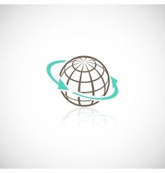 Global network concept vector image