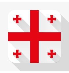 Simple flat icon Georgia flag vector image
