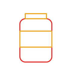 bottle sausage market condiment ingredient icon vector image