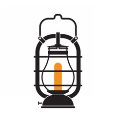 Camping Lantern or Gas Lamp vector image vector image