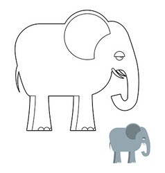 Elephant coloring book Big Animal of jungle with vector image vector image