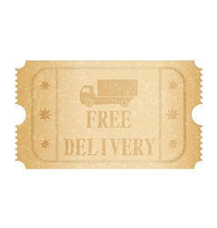 Free delivery ticket vector image vector image