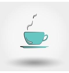 Hot coffee vector image