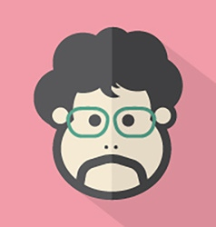 Man Single Mans Face Flat Design Icon vector image