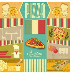 Menu for Pizzeria vector image