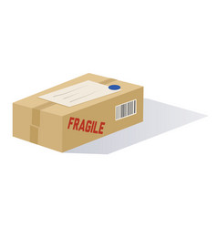 cartoon mailed package vector image vector image