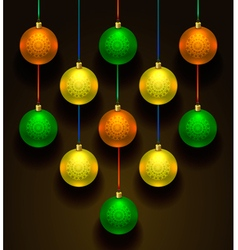 Colorful christmas balls Set of realistic vector image vector image
