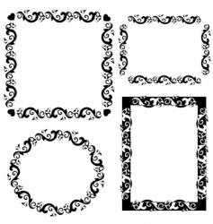 frame patterned vector image