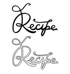Recipe word vector image