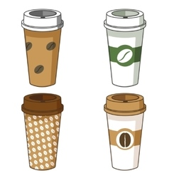 Take away coffee cup set vector image