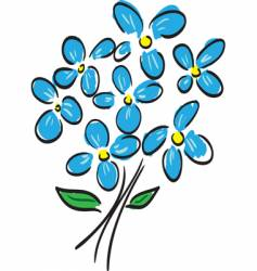 blue flowers vector image vector image