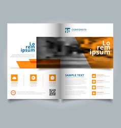 brochure geometric layout design template annual vector image