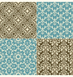 Seamless floral paterns vector