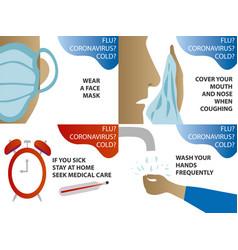 2019-ncov coronavirus flu and cold prevention vector