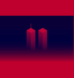 911 attack remembrance memorial day september 11 vector image