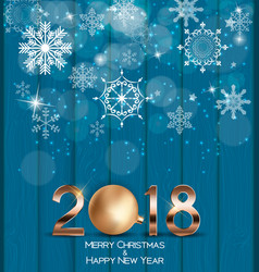 Abstract beauty christmas and 2018 new year vector