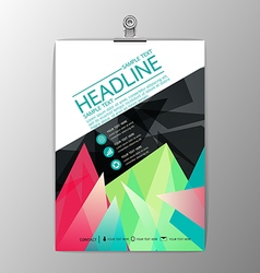 Abstract modern brochure template design business vector