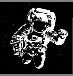 Astronaut on space background - elements of this vector