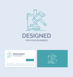auction gavel hammer judgement law business logo vector image