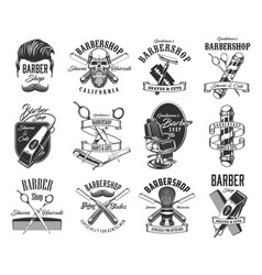 barbershop shave and hairdresser icons vector image