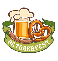 Bavarian octoberfest icon cartoon style vector