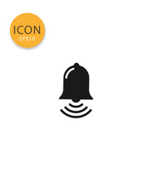 bell icon isolated flat style vector image