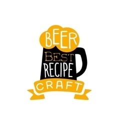 Best Recipe Beer Logo Design Template vector