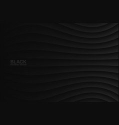 Black wavy abstract background vector