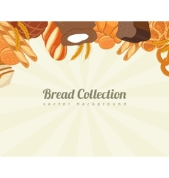 Bread collections Food background with bread vector image