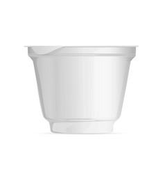 breadboard plastic cup foil cup food packaging vector image