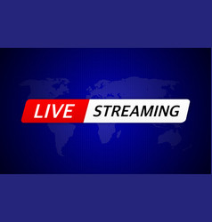 Breaking live stream news in abstract style vector