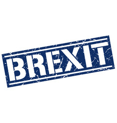 Brexit square grunge stamp vector