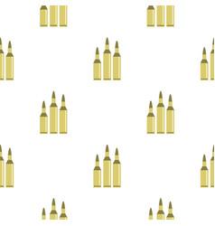 Bullet ammunition pattern flat vector