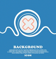 Cancel sign icon Blue and white abstract vector