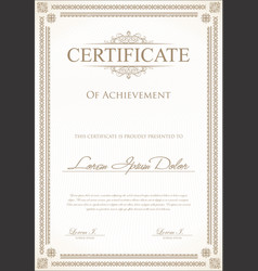 Certificate or diploma template 3 vector