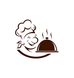 chef cooky food logo icon vector image