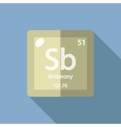 Chemical element Antimony Flat vector image