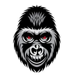 color with gorilla head white vector image