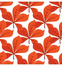 Colorful autumn leaf background seamless pattern vector image