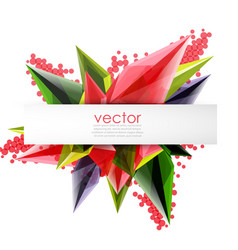 colorful blooming crystals abstract vector image