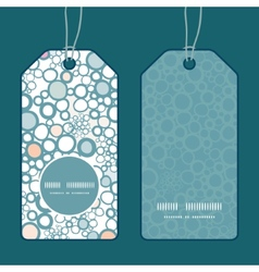 colorful bubbles vertical round frame pattern tags vector image