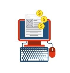 Computer design Gadget and internet concept vector