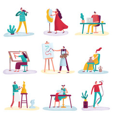 Creative profession artist artistic people art vector