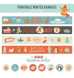 Cute Horizontal Banners vector image