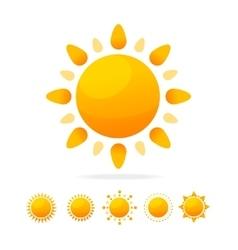 Different Sun Icon Set vector image