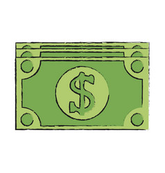 Dollar bill money icon image vector