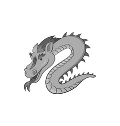 Dragon icon black monochrome style vector